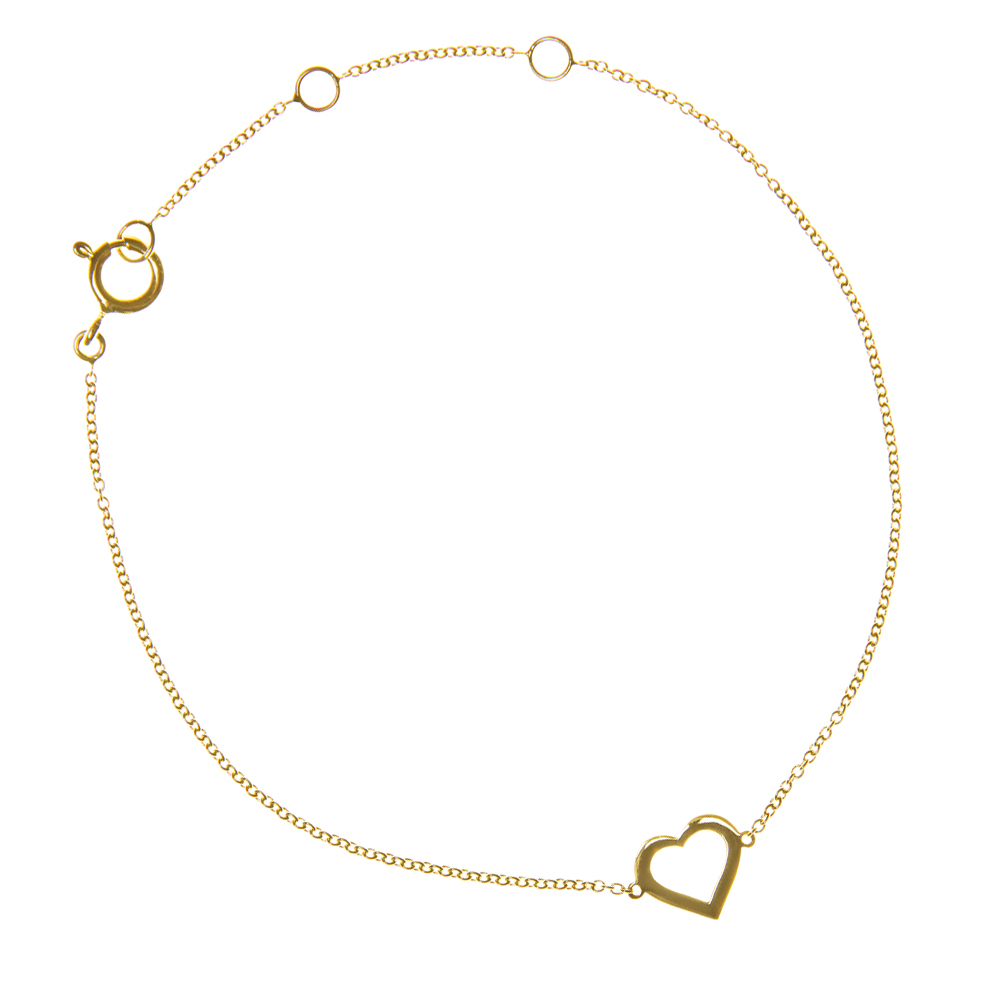 http://www.aristidesfinejewels.com/heart-bracelet-in-yellow-gold/